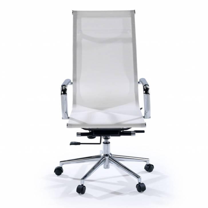 Slim Armchair Mesh High White