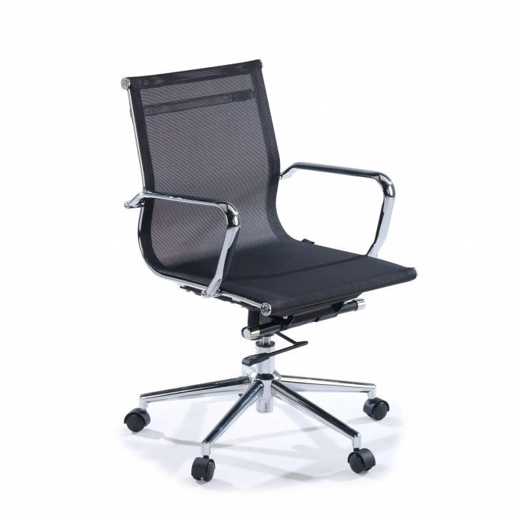 Slim Sessel, niedrig, Netzgewebe, schwarz