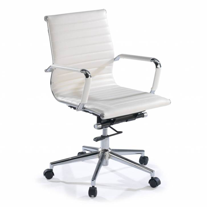 Slim Armchair Low White