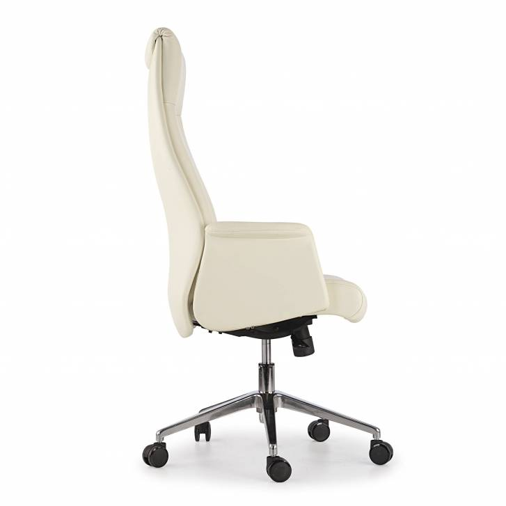 Master Armchair Leather White