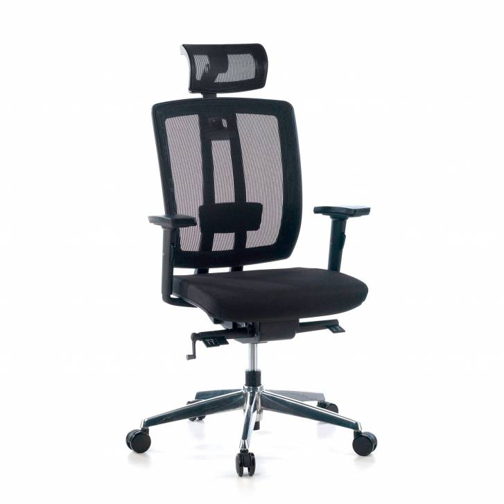 Upholstered Ergomax chair with headrest