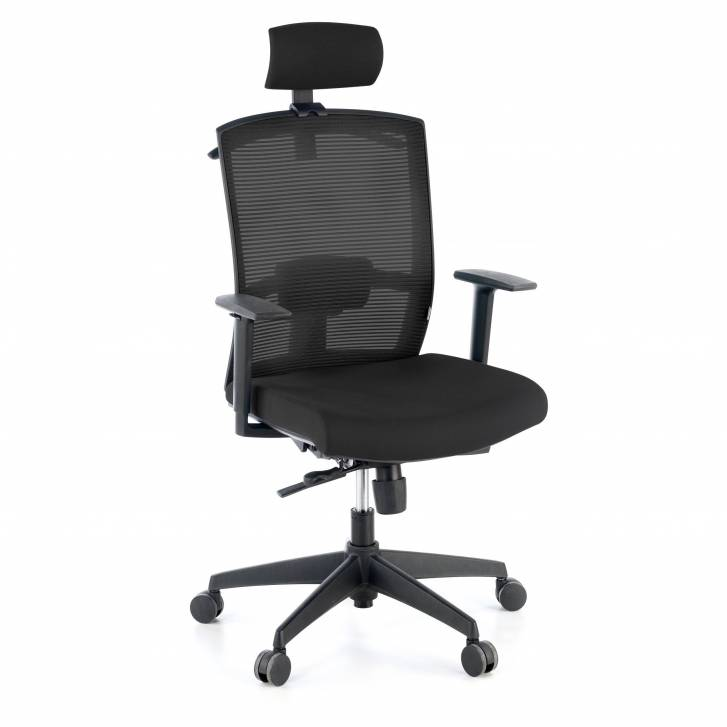 Kendo Chair with Headrest Black