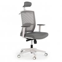 Kendo Stuhl mit Kopfstütze, weiß