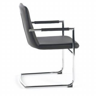 Oslo Chair Cantilever Black
