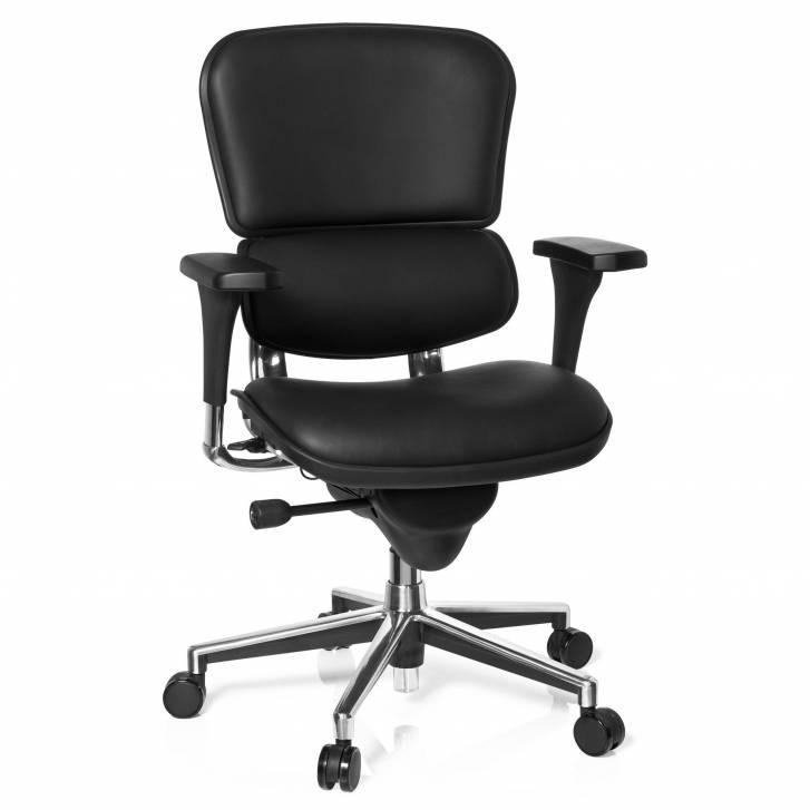 Keystone Stuhl Leder, schwarz