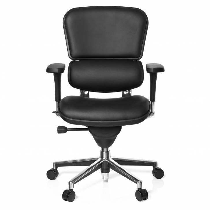 Keystone Chair Leather Black