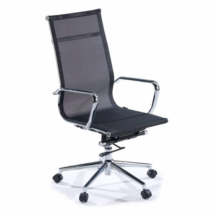 Slim Sessel, hoch, Netzgewebe, schwarz