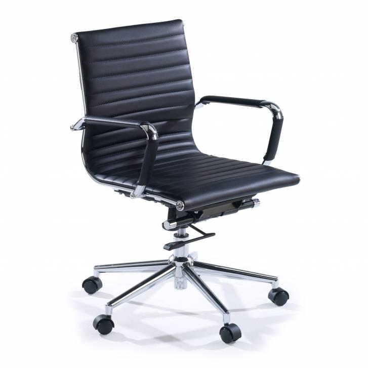 Slim Armchair Low Black