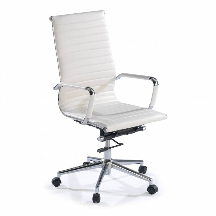 Slim Armchair High White