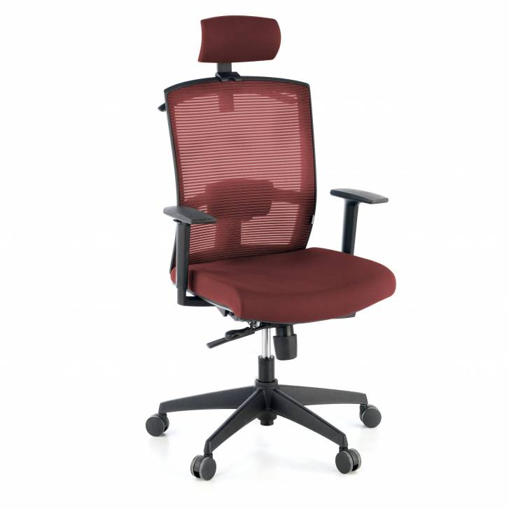 Kendo Chair with Headrest Burgundy