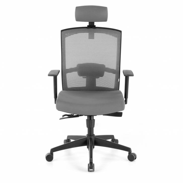 Kendo Chair with Headrest Grey