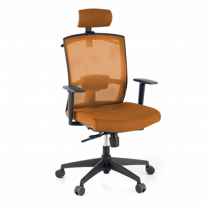 Kendo Chair with Headrest Orange