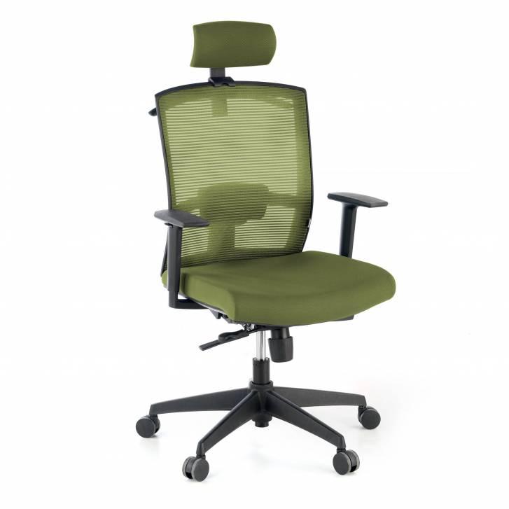 Kendo-Stuhl mit Kopfstütze, grün