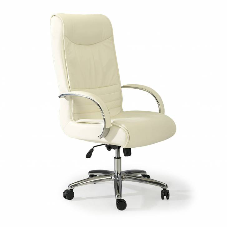 Oxford Sessel, Leder, weiß