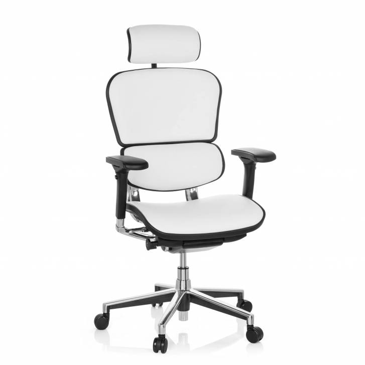 Keystone Chair Leather With Headrest White