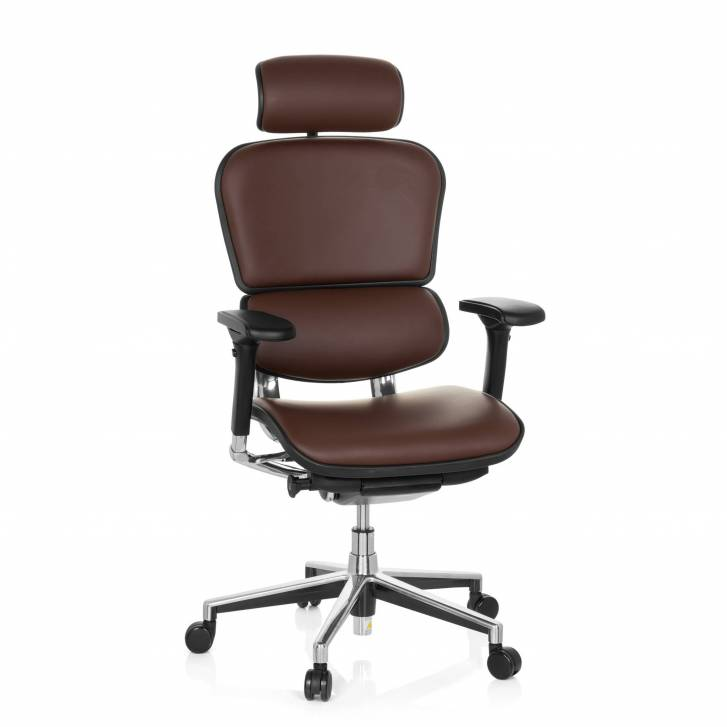 Keystone Chair Leather With Headrest Brown