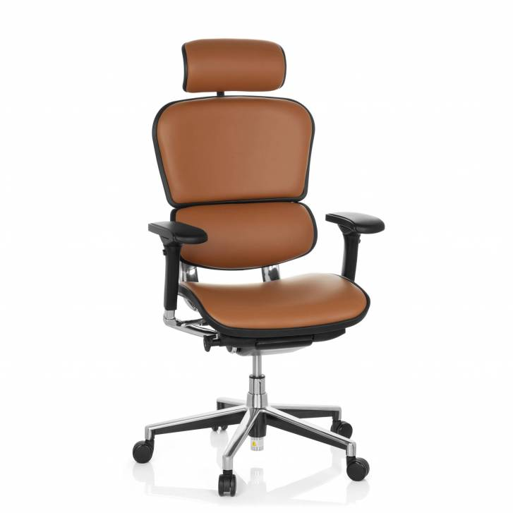 Keystone Chair Leather With Headrest Latte