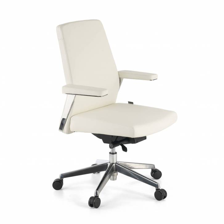 Vanity Armchair Low White