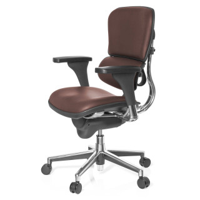 Keystone Chair Leather Brown