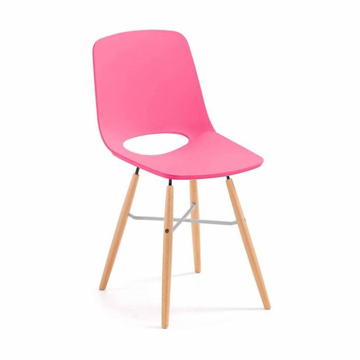 Joy Chair Wooden Legged Pink