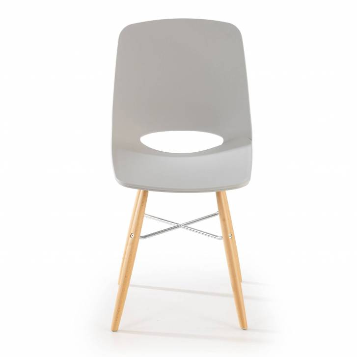 Joy Chair Wooden Legged Grey