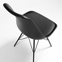 Nordic Stuhl Metall schwarz