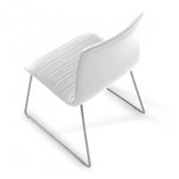Cube Stuhl, Kufe, weiß