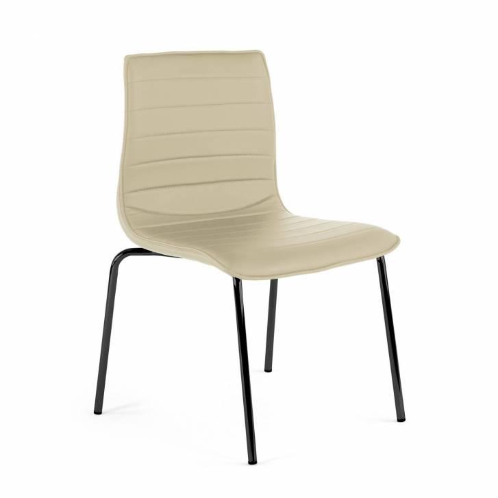 Cube Chair 4-legged Black Beige