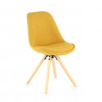 Nordic Stuhl gepolstert gelb