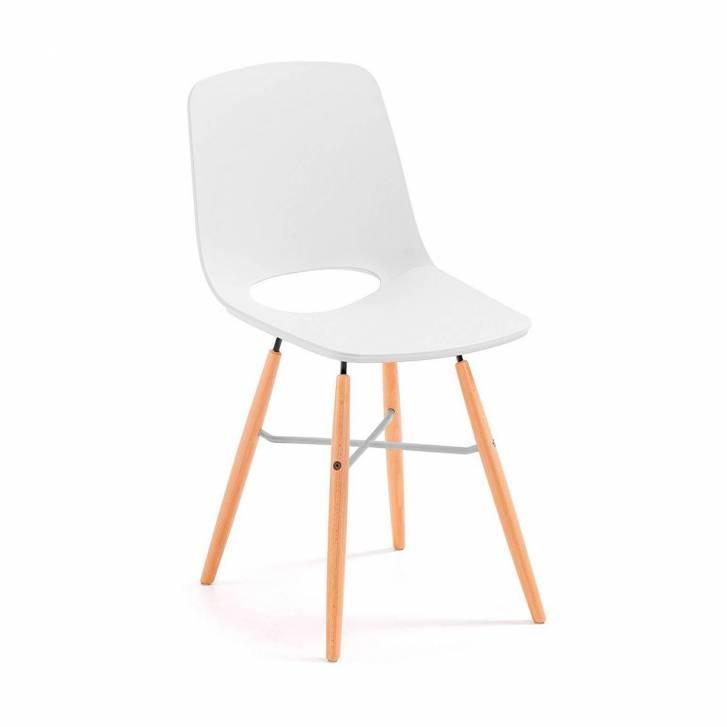 Joy Chair Wooden Legged White