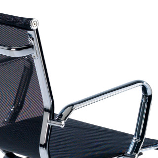 Slim Armchair Mesh Low Black
