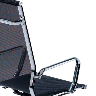 Slim Armchair Mesh High Black