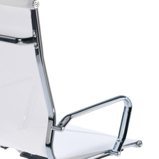 Slim Armchair Mesh High White