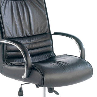 Oxford Armchair Leather Black