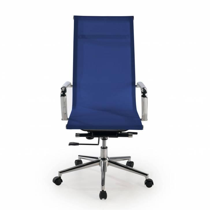 Slim Armchair Mesh High Blue