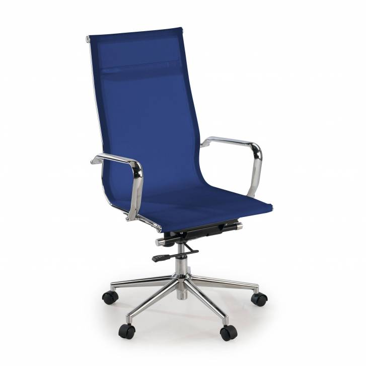 Slim Armchair Mesh High Blue