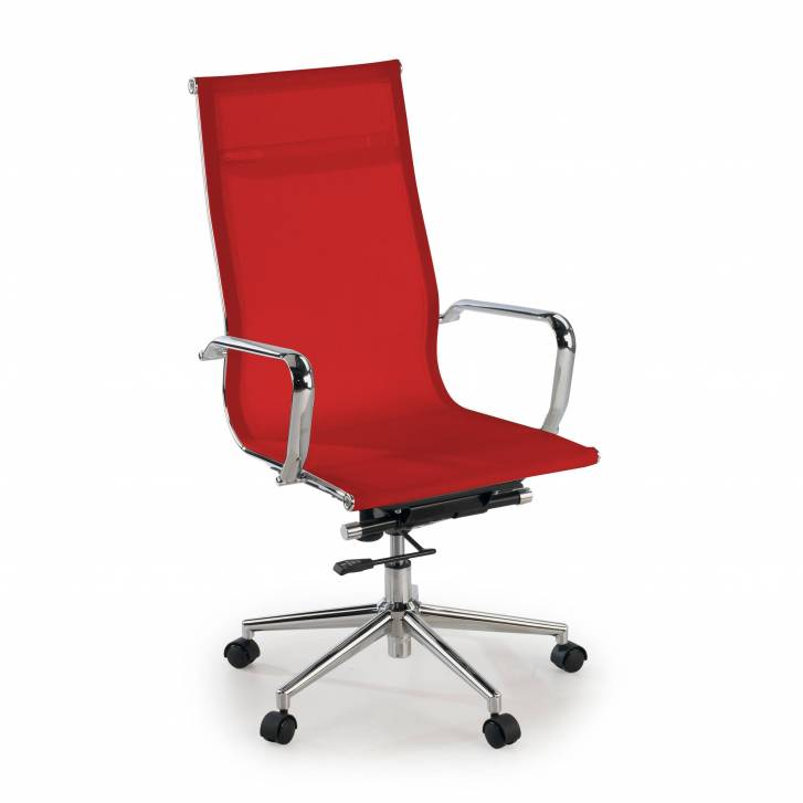 Slim Armchair Mesh High Red