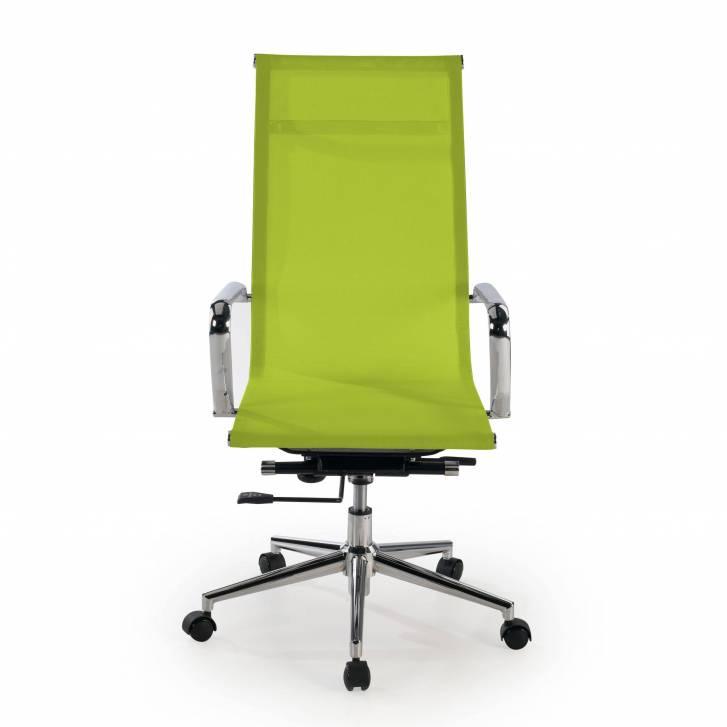 Slim Armchair Mesh High Green