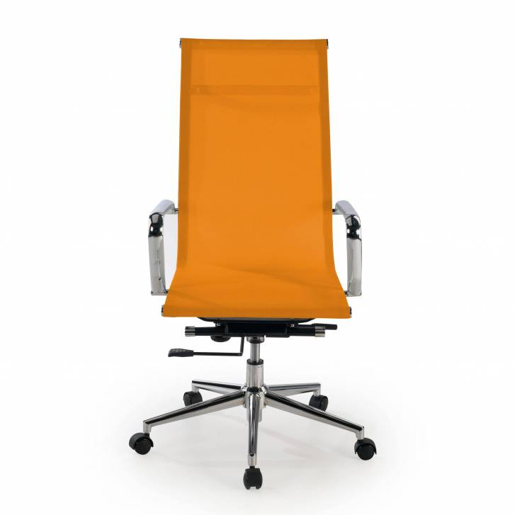 Slim Armchair Mesh High Orange