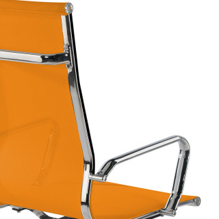 Slim Armchair Mesh High Orange