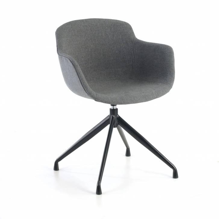 Ivonne Chair Swivel Upholstered Seat Black