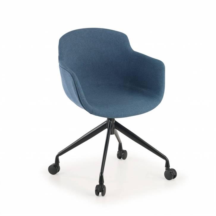 Ivonne Chair Swivel Wheeled Upholstered Seat Black