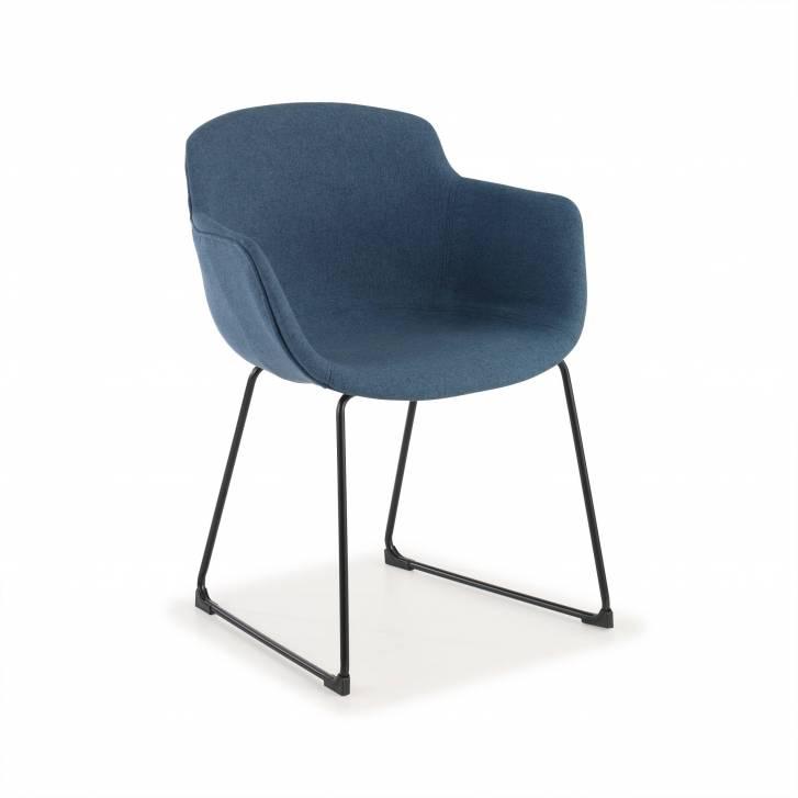 Ivonne Kufenstuhl, Sitz gepolstert in blau