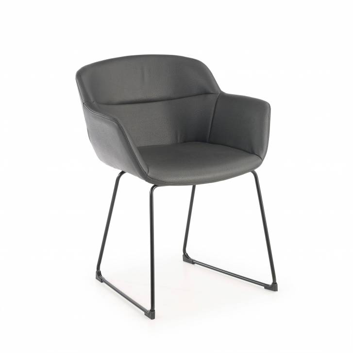 Anne Chair Cantilever Ecoleather Seat Grey