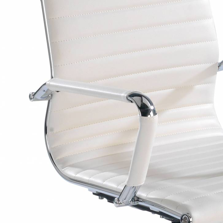 Slim Armchair Low White