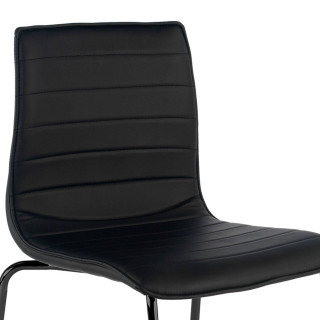Cube Chair 4-legged Black...