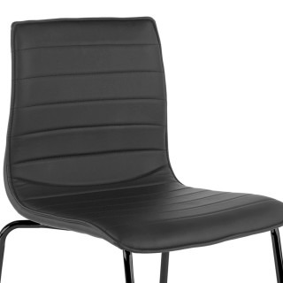 Cube Chair 4-legged Black Grey