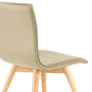 Cube Chair Wood Beige