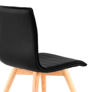 Cube Chair Wood Black