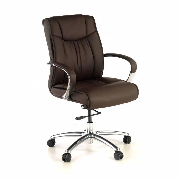Bahia armchair low brown leather